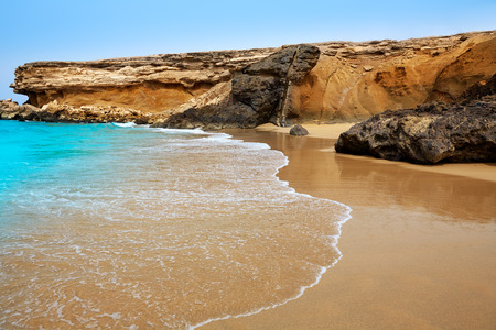 islas: Fuerteventura La Pared beach at Canary Islands Pajara of Spain