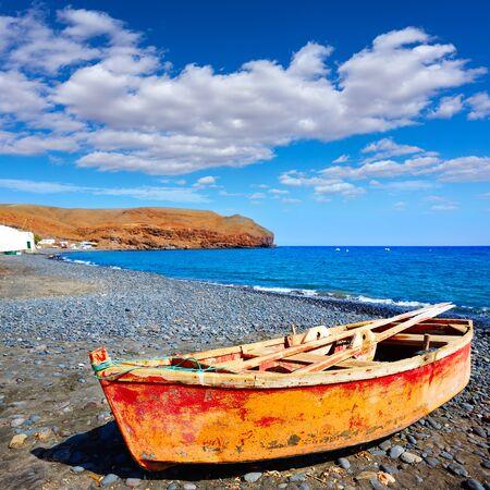 La Lajita beach Fuerteventura at Canary Islands of Spain Stock Photo