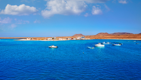 islas: Majanicho village in Fuerteventura Canary Islands of Spain Stock Photo