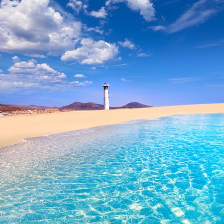제도 Morro Jable Matorral 해변 Jandia in Pajara of Fuerteventura에서 카나리아 제도 스톡 콘텐츠