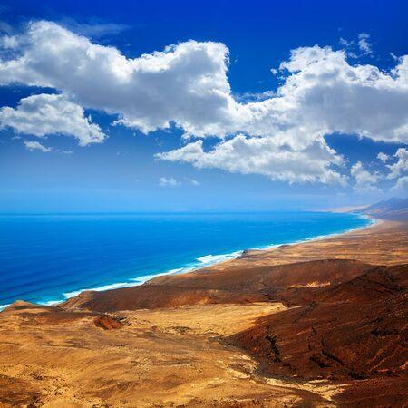 atlantic ocean: Jandia west beaches aerial of Fuerteventura at Canary Islands Spain