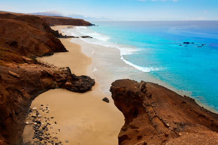Fuerteventura La Pared beach at Canary Islands Pajara of Spain