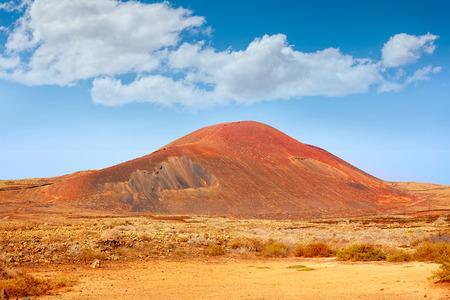 islas: Lajares La Caldera mountain Fuerteventura at Canary Islands of Spain Stock Photo