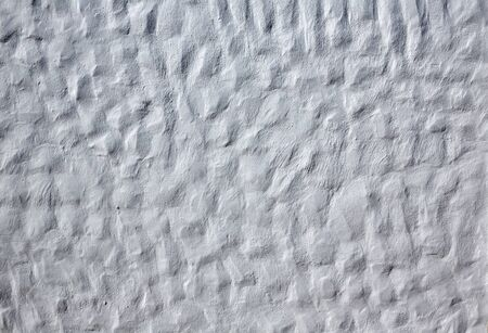 whitewashed: Canary Islands white wall whitewashed in Spain Stock Photo