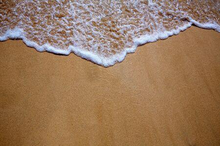 Kanarische Inseln Strand Sand und Welle Wasser Textur in Spanien