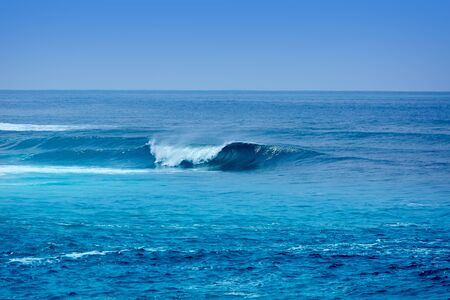 canary island: Jandia surf beach waves Fuerteventura at Canary Islands of Spain