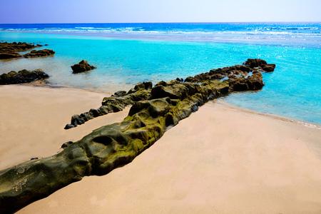 islas: Morro Jable beach Fuerteventura at Canary Islands of Spain Stock Photo