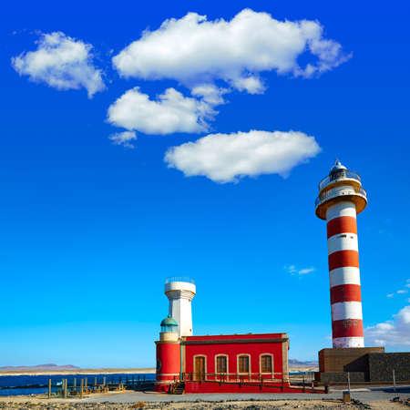 sun beach: Toston lighthouse in El Cotillo at Fuerteventura Canary Islands