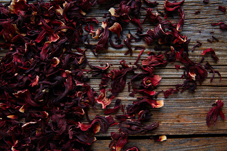 fiori di ibisco: Jamaica flower for herbal iced tea from hibiscus Mexican beverages