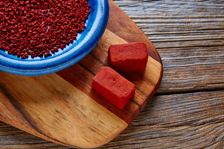 marinate: Achiote seasoning from annatto seed popular in Mexico for marinate