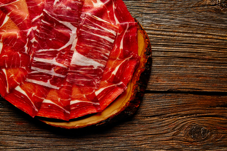 andalusian: Jamon iberico han from Andalusian Spain Tapas Stock Photo
