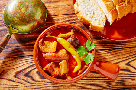 typical: Tapas Callos madrilena typical from Madrid Spain Stock Photo