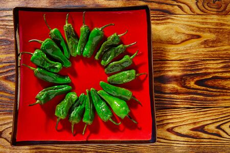 veggies: Tapas pimientos del Padron green peppers with sausage