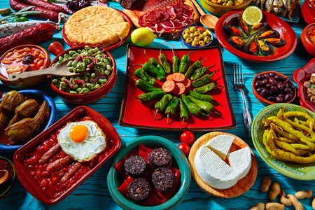 most: Tapas from spain mix of most popular recipes of Mediterranean cuisine