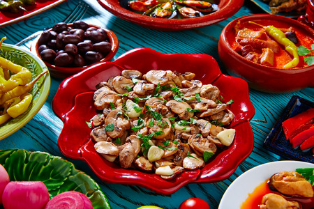 typical: tapas typical from spain mix