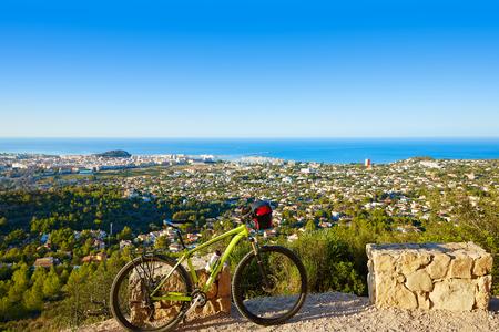 mongo: Mountain bike MTB Denia at Montgo track in alicante Spain