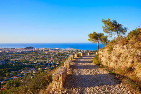 mongo: Denia track in Montgo mountain at Alicante Mediterranean Spain