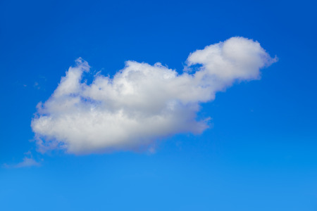 blue summer sky: Blue sky with clouds in a summer sunny day Stock Photo