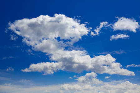sky sun: Blue sky with clouds in a summer sunny day Stock Photo