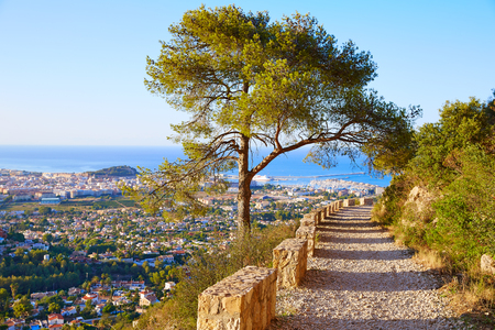mongo: Denia track in Montgo mountain at Alicante Mediterranean Spain
