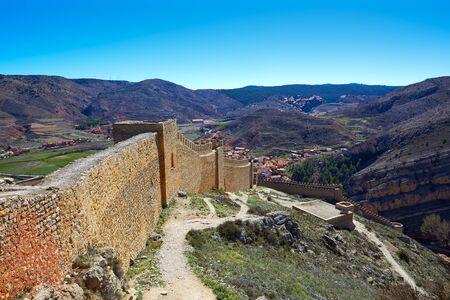 rampart: Albarracin medieval town fortress rampart village at Teruel Spain