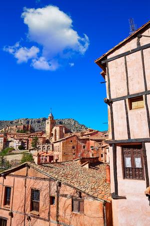 aragon: Albarracin medieval town village at Teruel Spain