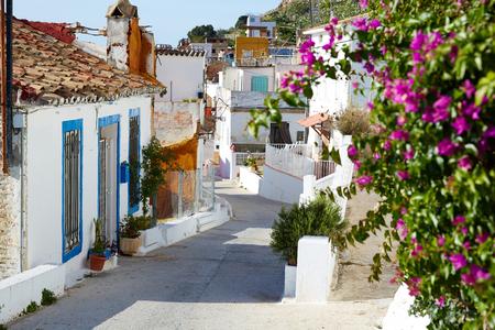 Cullera dorpsstraten in mediterrane Valencia Spanje