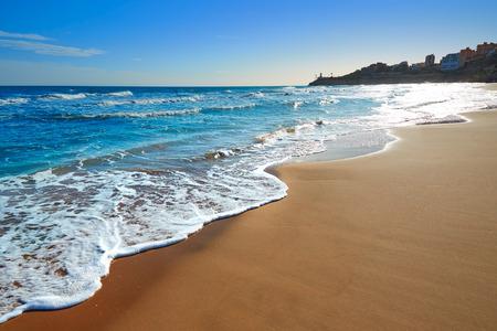 Cullera Dosel beach Mediterranean sea in Valencia of Spain Standard-Bild