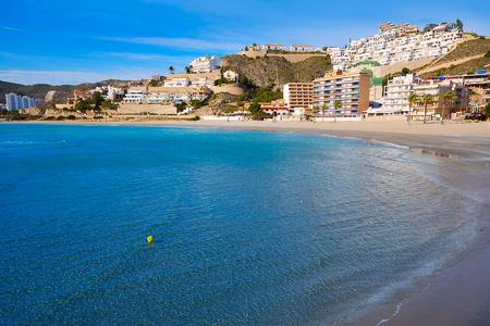 playa: Cullera Playa los Olivos beach in Mediterranean Valencia at Spain Stock Photo