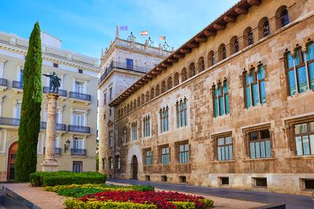 generalitat: Valencia Palau Generalitat in Manises square at Spain