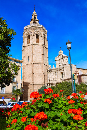 turism: Valencia Cathedral and Miguelete tower Micalet in Spain