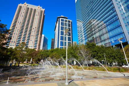 discovery: Houston Discovery green park in downtown Texas Stock Photo