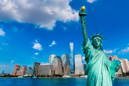 Liberty Statue and New York skyline American Symbols USA photomount