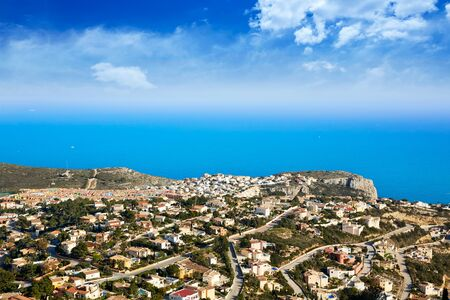 Benitatxell beach area aerial view Alicante in Spain mediterranean sea