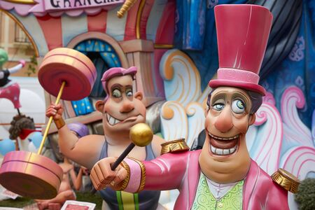 funny cartoon: Fallas fest popular figures will burn in March 19 th night yearly
