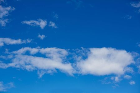 blue summer sky: Blue summer sky in Mediterranean sea with white clouds