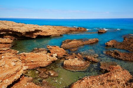 mediterraneo: Denia Las rotas beach near Sant Antonio cape of alicante spain