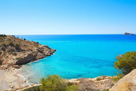 alicante: Benidorm Cala tio Ximo beach in Alicante Mediterranean of Spain Stock Photo