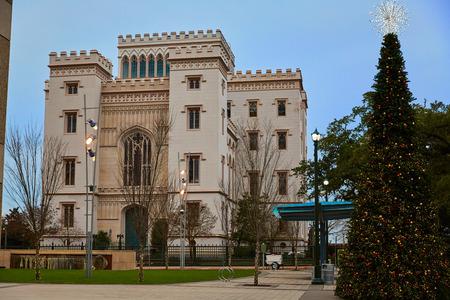 baton: Louisiana Old State Capitol in Baton Rouge USA