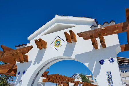 costa blanca: Benidorm Mirador del Castillo Mediterranean lookout point in Alicante Spain Stock Photo