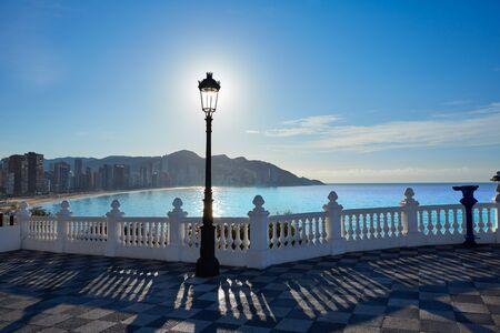 lookout: Benidorm Mirador del Castillo Mediterranean lookout point in Alicante Spain Stock Photo