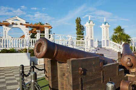 paisaje mediterraneo: Benidorm vieja Canon en el Mirador del Castillo Mediterráneo mirador Alicante España