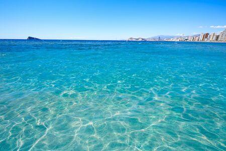 playa blanca: Benidorm Levante beach in Alicante Mediterranean of Spain