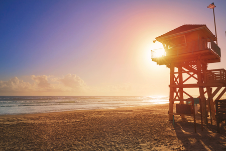 Daytona Beach in Florida baywatch tower in USA Фото со стока - 58900718
