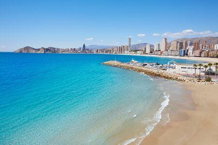 costa blanca: Benidorm Poniente beach in Alicante Mediterranean of Spain