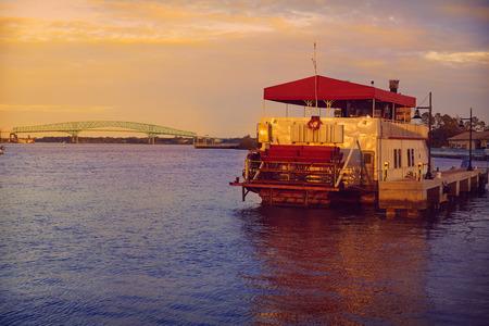 jacksonville: Steamboat in Jacksonville Florida USA at sunset
