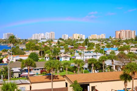 cenital: Daytona Beach en Florida aérea en Port Orange de EE.UU. Foto de archivo