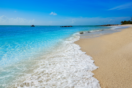 taylor: Key West beach Fort Zachary Taylor Park in Florida USA Stock Photo