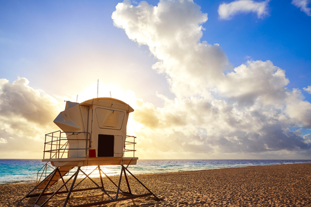 baywatch: Fort Lauderdale beach morning sunrise in Florida USA baywatch tower