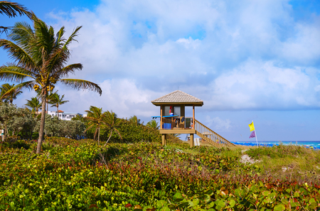 baywatch: Del Ray Delray beach in Florida USA baywatch tower Stock Photo